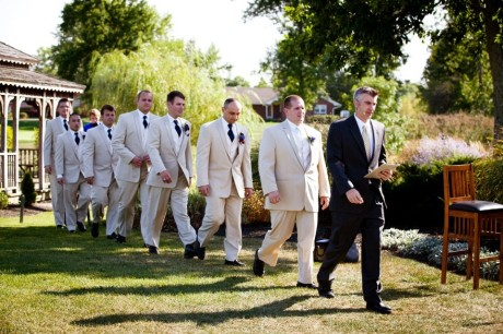 Brette-Ashley Photography- Groomsmen Entering Ceremony Processional