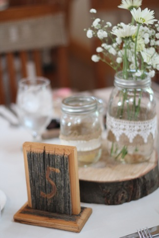 Barnwood Table Numbers
